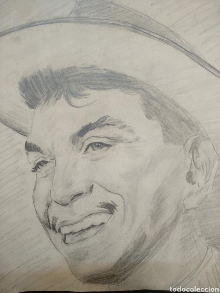 Arte: Dibujo original caricatura Cantinflas - Foto 2 - 157033881
