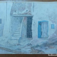 Arte: DIBUJO ORIGINAL XAUEN (MARRUECOS) 1989 FIRMADO 33 X 24 CM (APROX). Lote 157244450