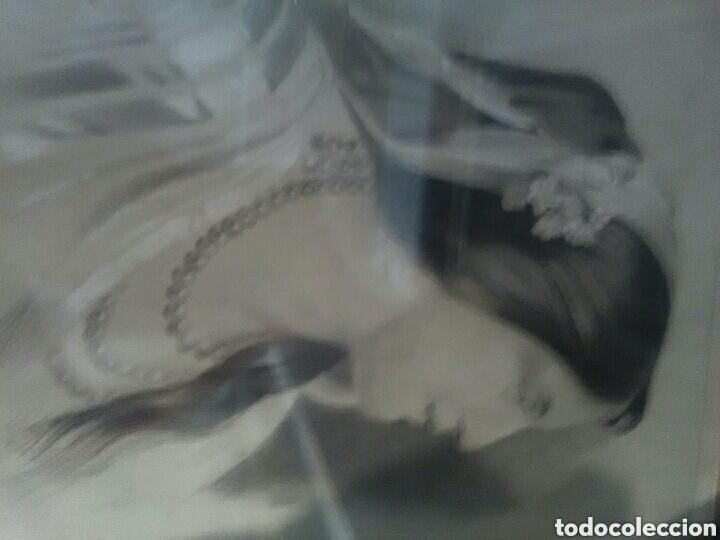 Arte: Dibujo a carbon, del 19, marco original siglo XIX - Foto 3 - 157259213