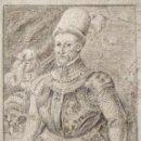 Arte: MARAVILLOSO RETRATO DE UN CABALLERO SOBRE PAPEL VERJURADO CON MARCA DE AGUA, OLD MASTER, FIRMADO. Lote 157344930