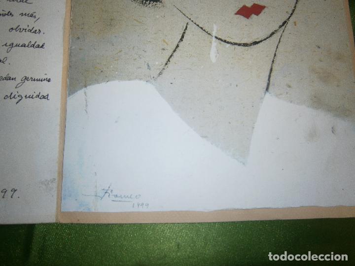 Arte: DIBUJO ORIGINAL Y POESIA JAUME MARTINEZ ROMEO DEDICADO A LA MUERTE DE RAFAEL ALBERTI AÑO 1999 - Foto 4 - 157650810