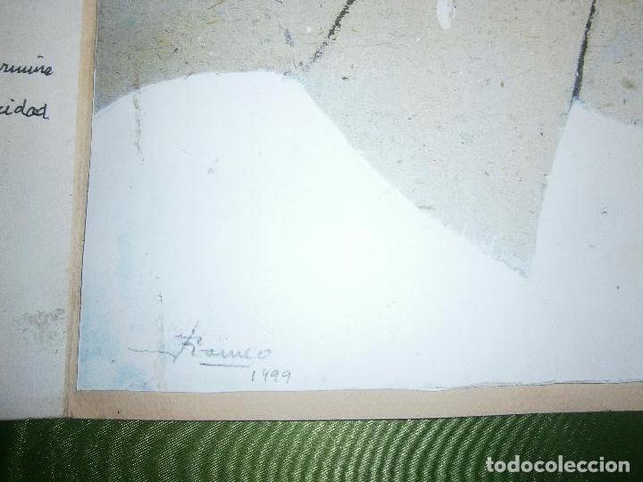 Arte: DIBUJO ORIGINAL Y POESIA JAUME MARTINEZ ROMEO DEDICADO A LA MUERTE DE RAFAEL ALBERTI AÑO 1999 - Foto 5 - 157650810