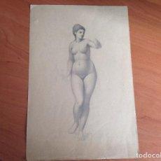 Arte: LUIS PALAO. DESNUDO FEMENINO.. Lote 157892686