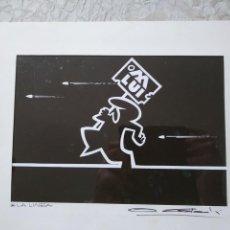 Art: DIBUJO DE OSVALDO CAVANDOLI. LA LINEA. Lote 157931590