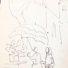 Arte: LLUIS FLOTATS - DIBUJO EN CATÁLOGO. Lote 158241294