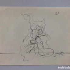 Arte: 2 DIBUJOS DE FRANCISCO HERNANDEZ . VELEZ MALAGA . DIBUJOS PREPARATORIO . FIRMADO Y FECHADO .. Lote 158352734