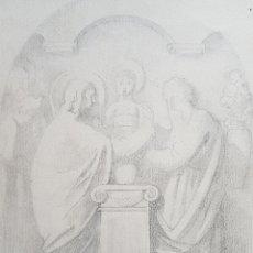 Arte: DARIO VILÁS FERNÁNDEZ (1880- 1950) - 2 DIBUJOS RELIGIOSOS.TINTA Y GRAFITI.FIRMADOS.. Lote 158522858