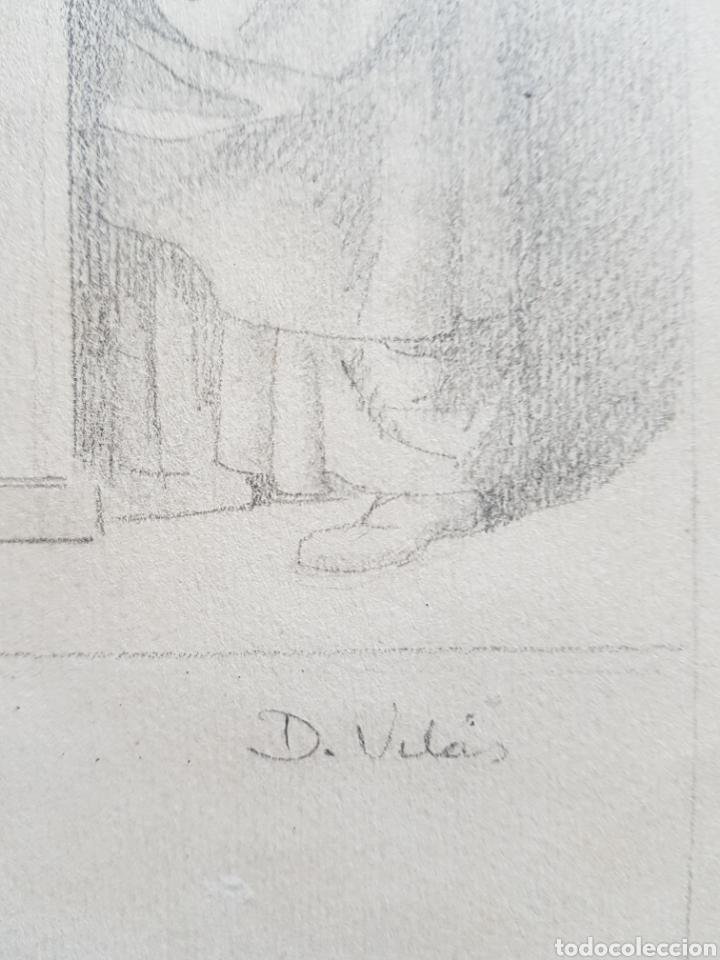 Arte: Dario Vilás Fernández (1880- 1950) - 2 Dibujos Religiosos.Tinta y Grafiti.Firmados. - Foto 3 - 158522858