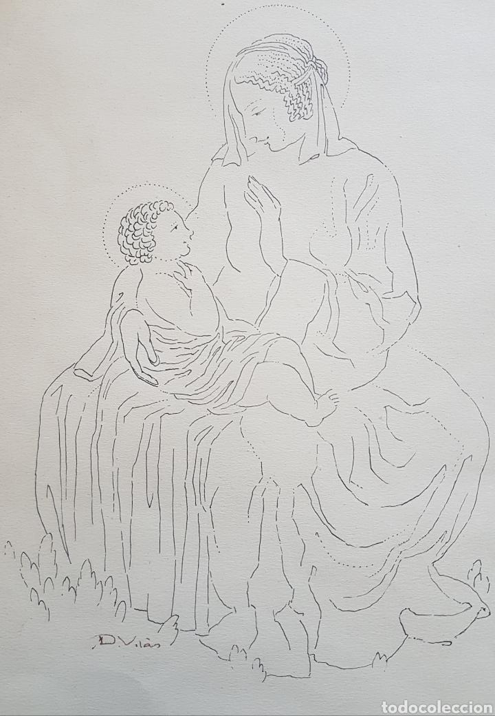 Arte: Dario Vilás Fernández (1880- 1950) - 2 Dibujos Religiosos.Tinta y Grafiti.Firmados. - Foto 5 - 158522858
