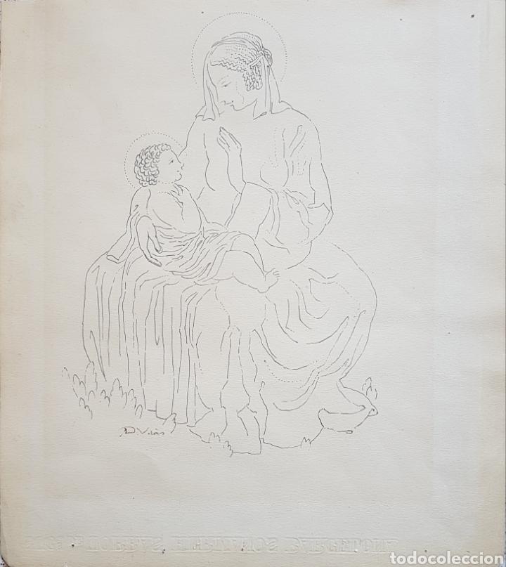 Arte: Dario Vilás Fernández (1880- 1950) - 2 Dibujos Religiosos.Tinta y Grafiti.Firmados. - Foto 6 - 158522858