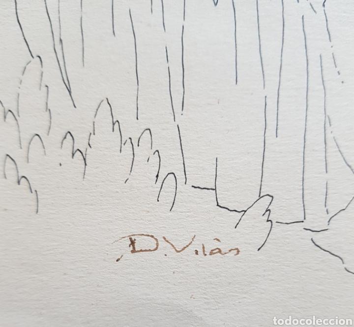 Arte: Dario Vilás Fernández (1880- 1950) - 2 Dibujos Religiosos.Tinta y Grafiti.Firmados. - Foto 7 - 158522858