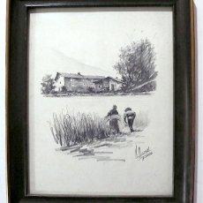 Arte: OZCOZ, PRECIOSO DIBUJO A LAPICERO, FIRMADO Y FECHADO 81. Lote 158551730
