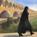 Arte: ISPHAHAN. IRAN. 36 CM X 25 CM. Lote 26376825