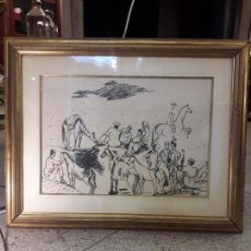 Arte: DIBUJO SOBRE PAPEL FIRMADO POR BENJAMÍN PALENCIA - (1894-1980). Lote 158723538