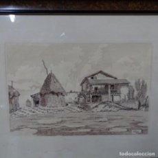 Arte: DIBUJO A PLUMIN FIRMADO AMIGÓ 53.TRAZO ORIGINAL.. Lote 158751030