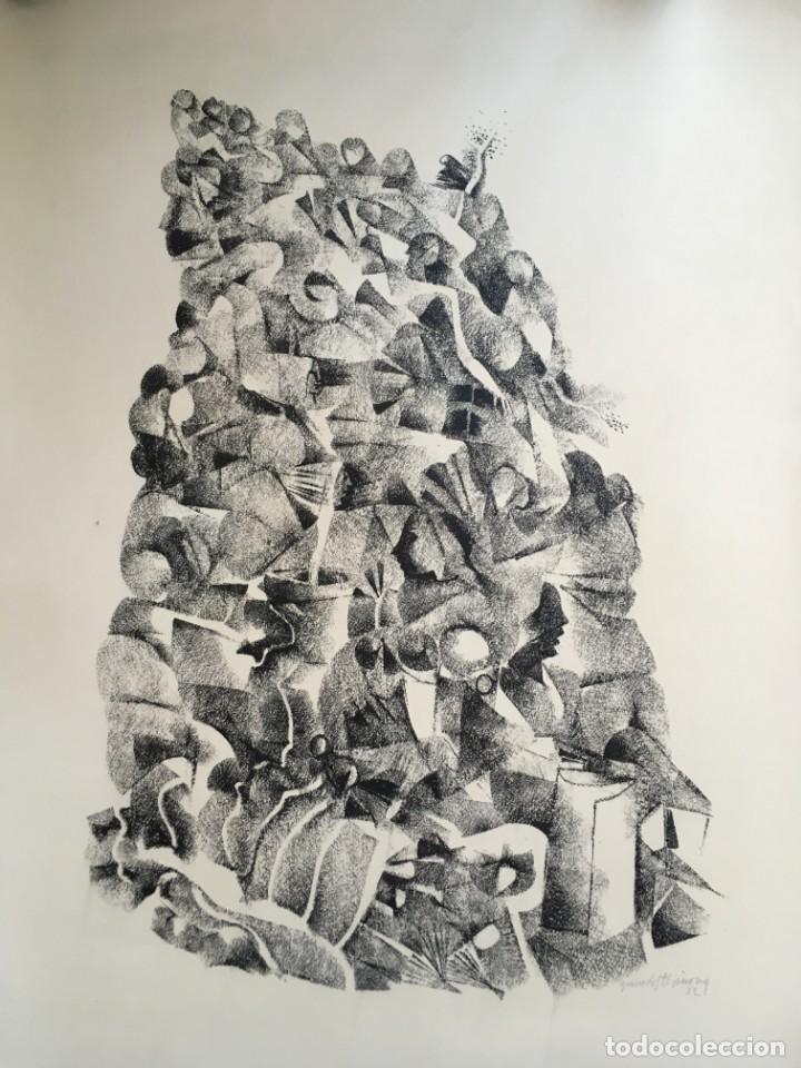 DIBUJO SOBRE PAPEL DE GRANADOS LLIMONA, AÑO 1982 (Arte - Dibujos - Contemporáneos siglo XX)