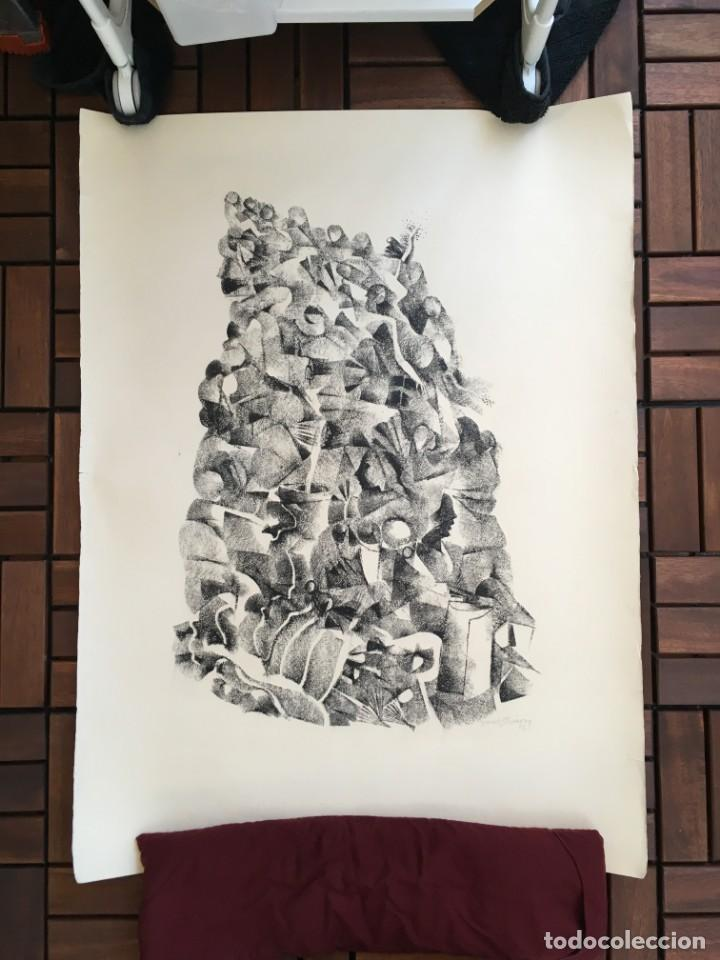 Arte: Dibujo sobre papel de Granados Llimona, año 1982 - Foto 2 - 158932038