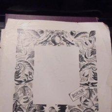 Arte: DIBUJO A PLUMA ORIGINAL SANT JORDI CON DRAGON (NO IMPRESO ) DESCONOCEMOS EL AUTOR RICART ??????. Lote 159111430