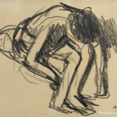 Arte: FRANCESC SERRA CASTELLET (1912-1976) DIBUJO AL CARBONCILLO BAILARINA FIRMADO. Lote 159126930