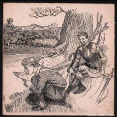 Arte: DIBUJO A PLUMA DE JOHAN ISINGS, FINAL DEL SIGLO XIX, PAÍSES BAJOS.. Lote 159259638