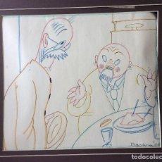 Arte: LLUIS BAGARIA ,DIBUJO ORIGINAL ,FIRMADO-IDEAL COLECCIONISTAS. Lote 159273234