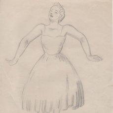 Arte: DIBUJO ORIGINAL DE ENRIC C. RICART DE 1957. LA MORT DEL CIGNE. Lote 128838567
