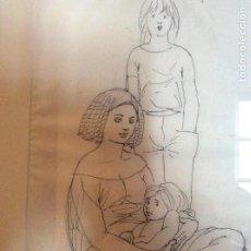 Arte: DIBUJO A PLUMILLA DE ALBERTO DUCE SIGLO XX 40CMX25CM.. Lote 159546262