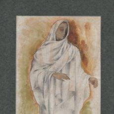 Arte: CURIOSO DIBUJO ORIGINAL DE ENRIC C. RICART. EL MANIQUÍ (TARRAGONA) FIRMADO. Lote 141739330