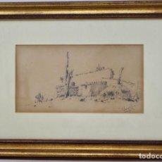 Arte: PAISAJE- MODESTO URGELL - (1839-1919) 20 CM X 11 CM.. Lote 159648790