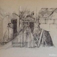 Arte: DIBUJO SOBRE CARTON.. TAHER CHEMIRIK. ENVIO CERTIFICADO INCLUIDO.. Lote 159837722