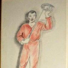 Arte: DIBUJO ORIGINAL DE ENRIC C RICART. SERIE ESPECTÁCULOS. MALABARISTA.. Lote 159851510