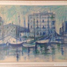 Arte: DIBUJO CERAS SOBRE PAPEL, FIRMADO R. MARTÍN EN 1979. Lote 159887782
