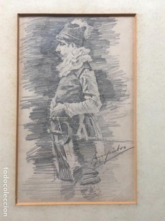 Arte: DIBUJO A LAPIZ, MOSQUETERO, SOBRE PAPEL 29X12,5 CM, ILUSTRADOR J. SAMPIETRO - Foto 3 - 159890390