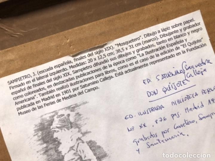Arte: DIBUJO A LAPIZ, MOSQUETERO, SOBRE PAPEL 29X12,5 CM, ILUSTRADOR J. SAMPIETRO - Foto 4 - 159890390