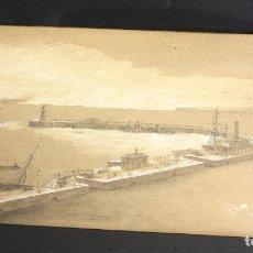 Arte: VISTA PANORAMICA DEL ANTIGUO PUERTO DE LA HABANA. CUBA. AUTOR: ZAMACOIS. CIRCA 1870. Lote 159964201