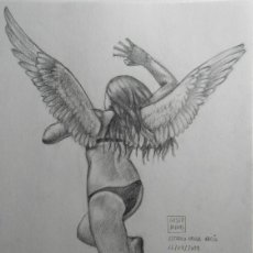 Arte: GESTODEDIOS, DIBUJO A LÁPIZ, ESTUDIO PARA VACÍO. Lote 160194202