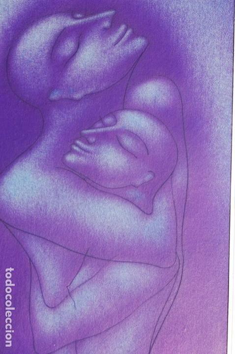Arte: Firma sin identificar . Precioso dibujo de 15x21,5 enmarcado en 32x42. - Foto 2 - 160606238