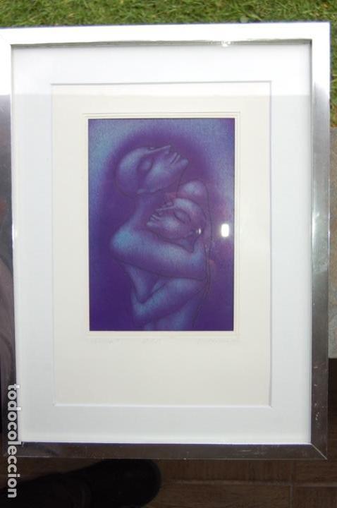 Arte: Firma sin identificar . Precioso dibujo de 15x21,5 enmarcado en 32x42. - Foto 17 - 160606238