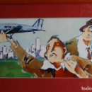 Arte: TINO GATAGÁN (LEÓN 1951/MADRID 2005) PRECIOSO DIBUJO EN ACRÍLICO DE 56X28 ENMARCADO EN74X46.PERFECTO. Lote 160608910