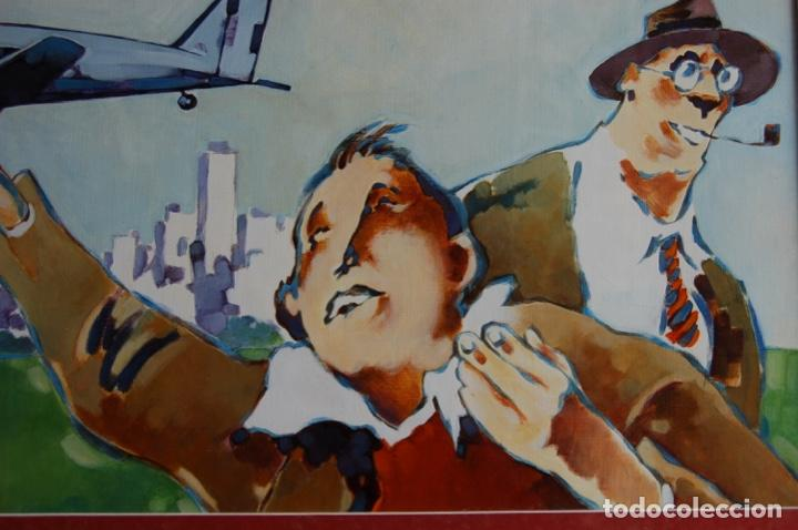 Arte: Tino Gatagán (León 1951/Madrid 2005) Precioso Dibujo en acrílico de 56x28 enmarcado en74x46.Perfecto - Foto 8 - 160608910