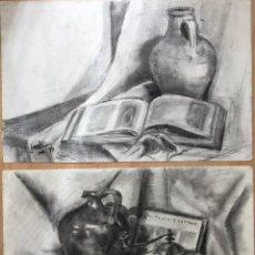 Arte: LOTE CON DOS DIBUJOS CON BODEGONES FIRMADOS GAUDÍ Y FECHADOS EN 1979. Lote 165168092
