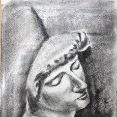 Arte: DIBUJO CON BUSTO DE ESCULTURA CLÁSICA FIRMADO GAUDÍ Y FECHADO EN 1979. Lote 160696758