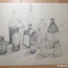 Arte: DIBUJO A LÁPIZ SOBRE PAPEL ANÓNIMO . Lote 160698262