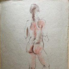 Arte: DIBUJO ACADEMIA FEMENINA ATRIBUIDO A PERE PRUNA. Lote 160705662