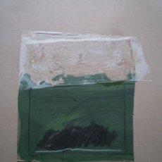 Arte: MADOLA. COLLAGE I PINTURA ORIGINAL SOBRE CARTÓN. Lote 160705750