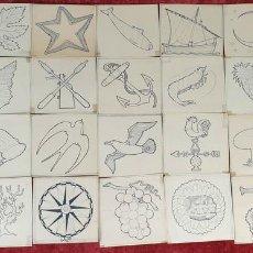 Arte: COLECCION DE 35 TARGETAS. DIBUJOS A TINTA SOBRE PAPEL. SIGLO XX. . Lote 160927890