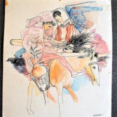 Arte: ÓSCAR ESTRUGA ANDREU. ACUARELA ORIGINAL. . Lote 161120458
