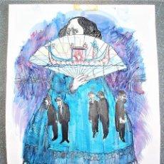 Arte: ÓSCAR ESTRUGA ANDREU. ACUARELA ORIGINAL.. Lote 161120978