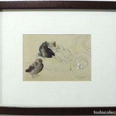 Arte: PEDRERO, BOCETO DIBUJO ORIGINAL FIRMADO. Lote 161236902