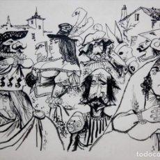 Arte: LORENZO GOÑI Y SUAREZ DEL ARBOL (JAÉN, 1911 - LAUSANA, 1992) DIBUJO A TINTA. Lote 161304158